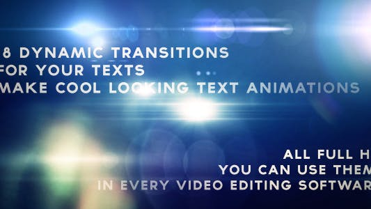 Thumbnail for Text Flare Flash Transitions Vol.2