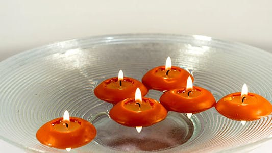 Thumbnail for Floating Candles on Water Burning