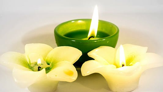 Thumbnail for Flower Candles Burning