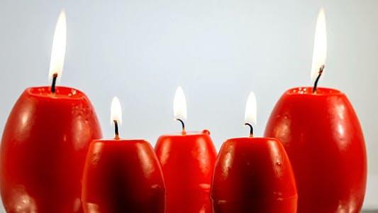 Thumbnail for Red Easter Egg Shape Candles Burning