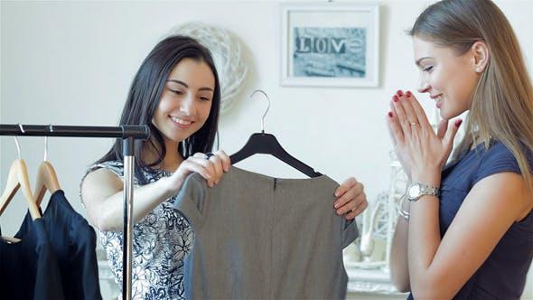 Thumbnail for Smiling Girl Doing Shopping