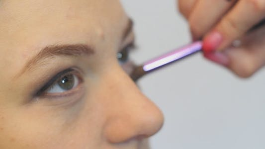 Thumbnail for Makeup Artist Doing Makeup Girl
