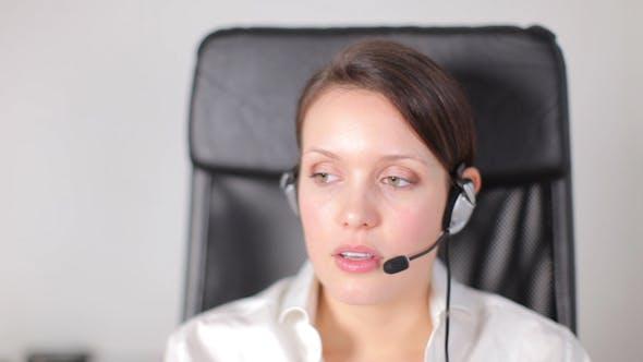 Thumbnail for Call Center Girl Telephone Job 4