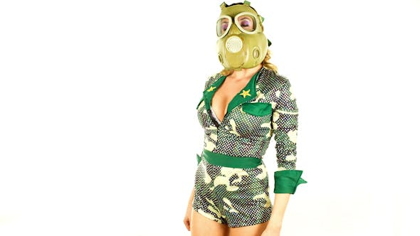 Military Gas Mask Dancer 6