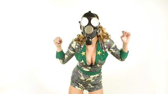 Military Gas Mask Dancer 7