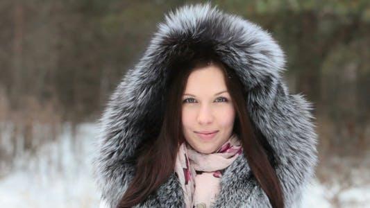 Girl in furry hood