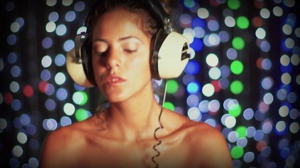 Thumbnail for Super Sexy Female Dj Headphones Vintage