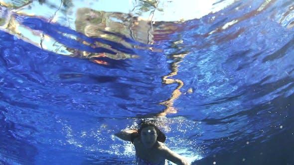 Thumbnail for Swimming Pool Girl Underwater