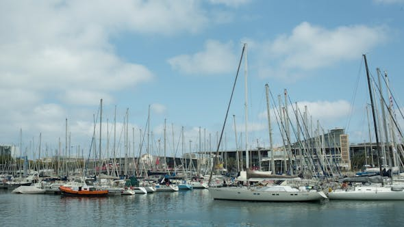Thumbnail for Barcelona Harbour Port Boats Vacation Holidays Mediterranean 2