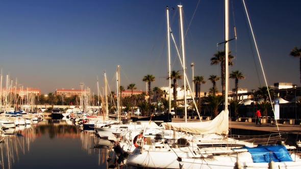 Thumbnail for Barcelona Port Olympic Harbour Boats 2