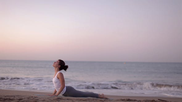 Thumbnail for Yoga Girl Beach Sunrise Helathy Lifestyle 3