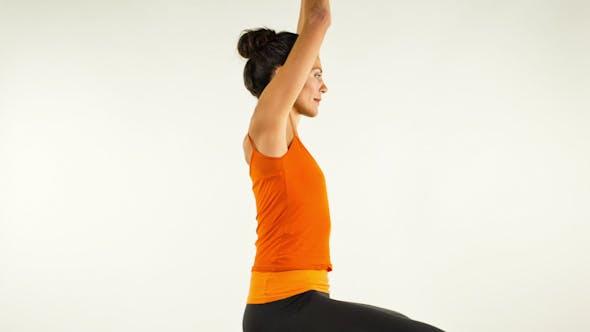 Thumbnail for Yoga Teacher Poses On A White Background 27