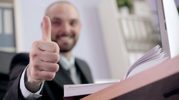 Thumbnail for Businessman Getting Good News