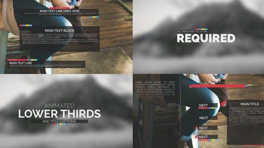 Thumbnail for Paquet de typographie - TBanderoles vidéo et titres