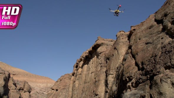 Thumbnail for Flight Quadrocopter in the Gorge