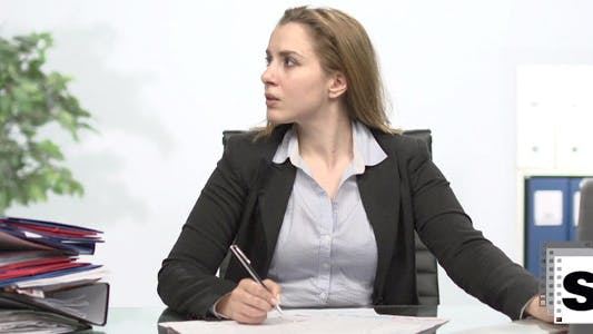 Overworking Businesswoman