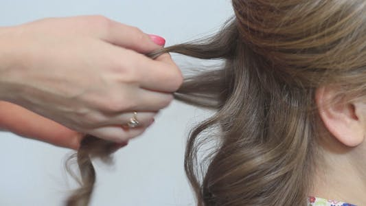 Thumbnail for Hairdresser Working with Curly Hair