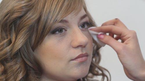 Makeup Artist Apply Makeup to the Face