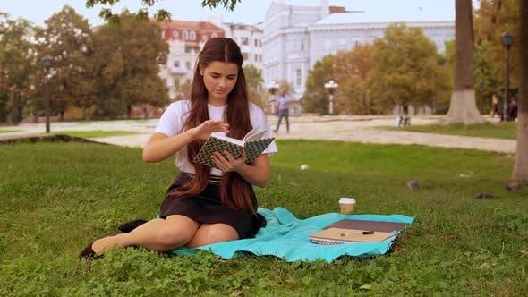 Thumbnail for Girl Read Poem in Park
