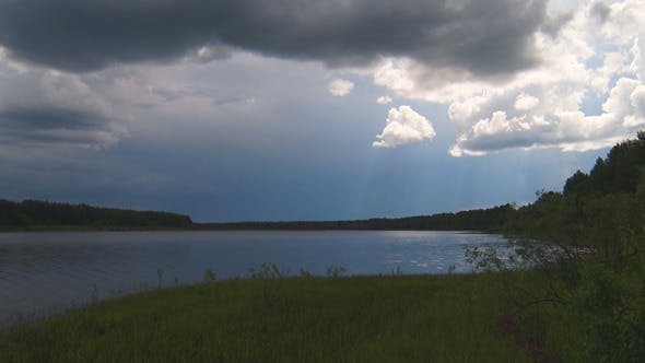 Cover Image for Forest Lake before the Rain