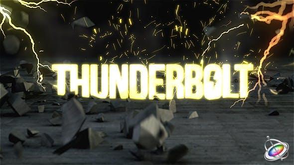 Thumbnail for Thunderbolt Reveal - Apple Motion