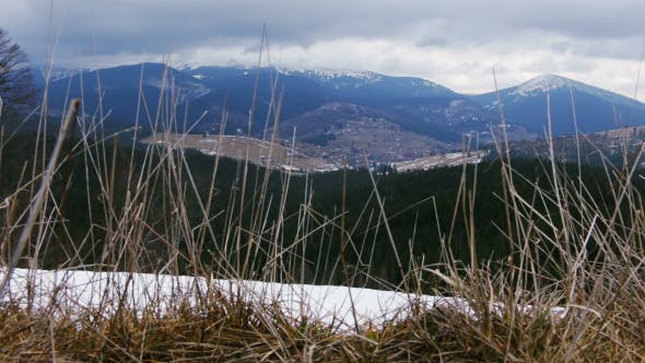 End of Winter in the Carpathian Mountains