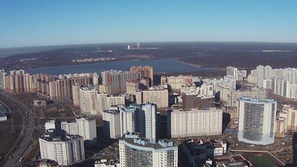 Thumbnail for Flying Over of Residential Multistory Quarters