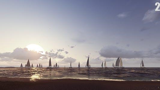 Thumbnail for Passing Through Sailing Boats 2K