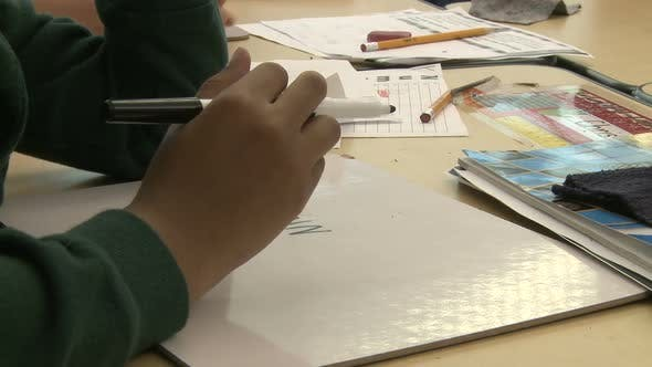 Thumbnail for Grammar School Student Using Magic Markers (7 Of 8)