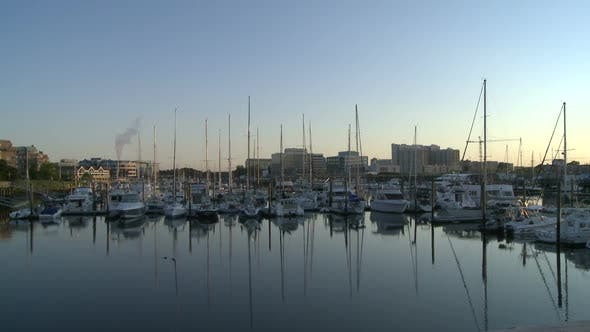 Cover Image for Boats Docked At Sunrise - Time Lapse (1 Of 3)