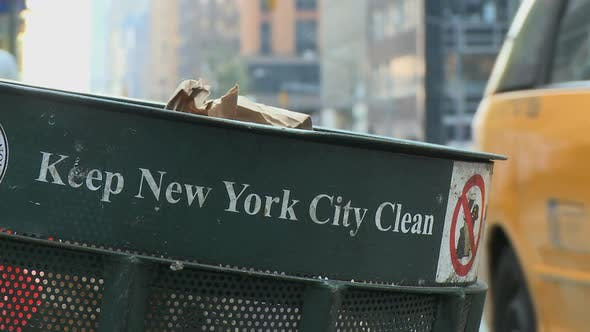 Thumbnail for Trash Can On City Corner (5 Of 5)