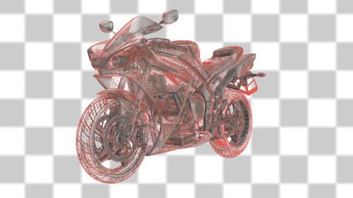 Motorcycle Wireframe