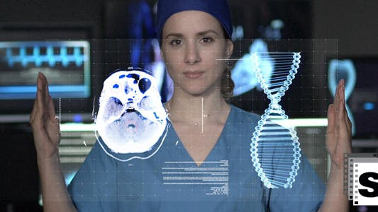 Thumbnail for Female Doctor With Hologram