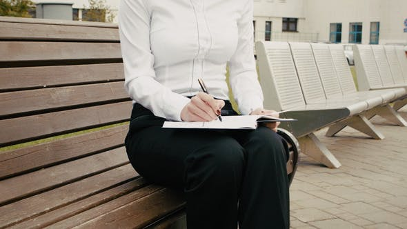 Thumbnail for Beautiful Businesswoman Reading And Working