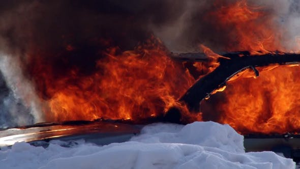 Cover Image for Car on Fire in the Snow