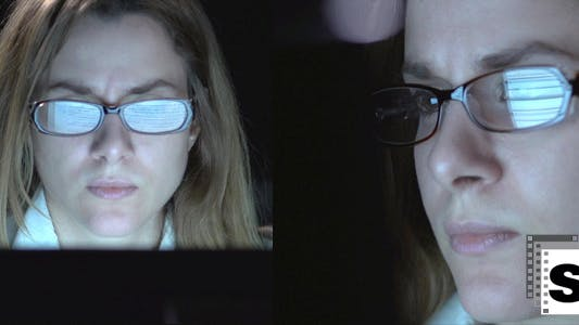 Thumbnail for Businesswoman Watching Computers Monitor