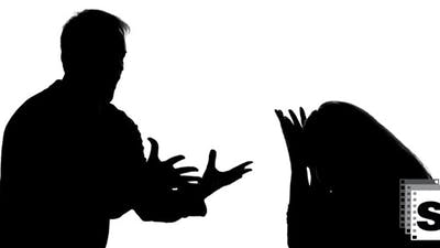 Man And Woman Silhouettes Arguing