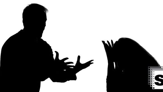 Thumbnail for Man And Woman Silhouettes Arguing