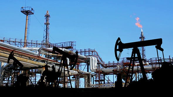 Thumbnail for Petrochemical Factory And Oil Pumps Silhouette