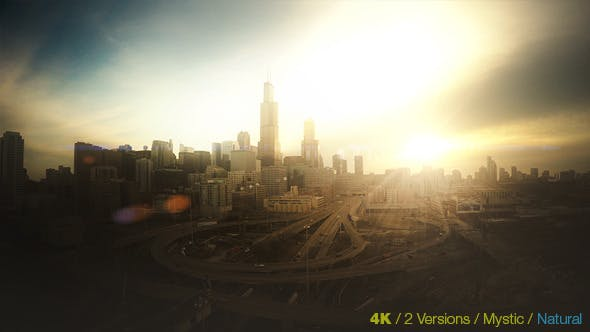 Thumbnail for Chicago Skyline at Sunrise