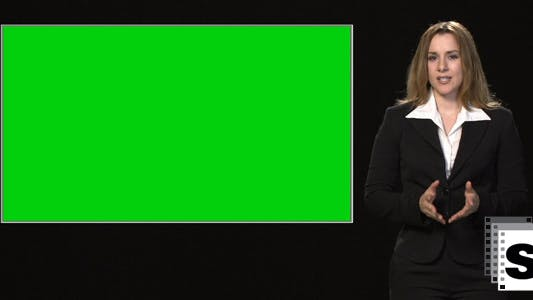 Thumbnail for Businesswoman Presentation With Green Screen