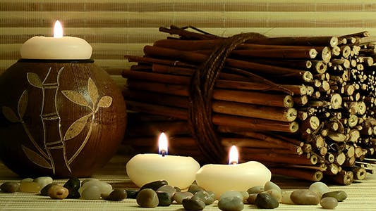Thumbnail for Candles Stones and Scented Wood Pieces