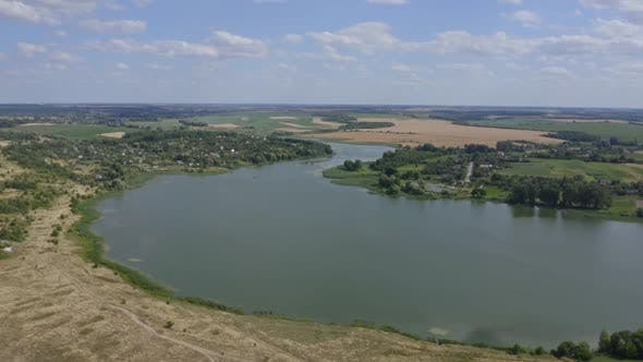 Thumbnail for View Of The River In Nature From Above