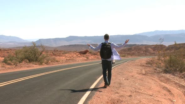 Thumbnail for Hitchhiker On A Desert Road (1 Of 2)