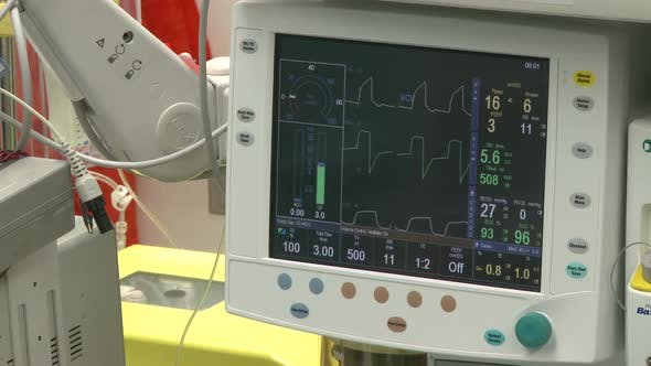 Thumbnail for Vitals Monitor With Cell-Saver Machine In Background