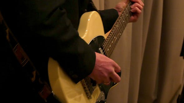 Thumbnail for Male Hand Plays The Electric Guitar