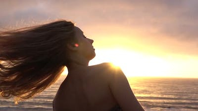 Hair in the Sunset
