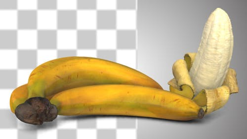 Bananas With Alpha Channel