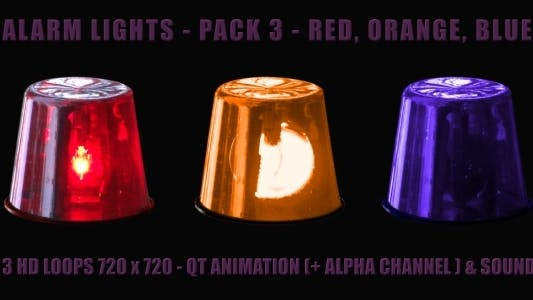 Thumbnail for Alarm Light - Pack 3