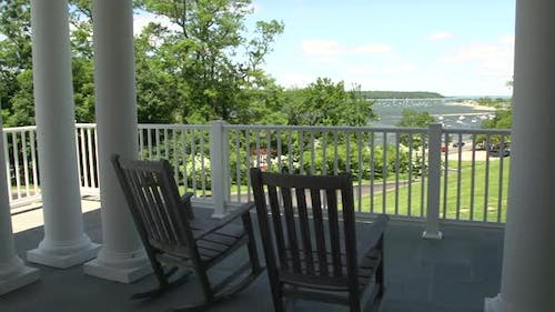 Porch Of State Park Building